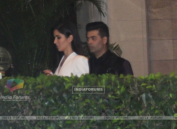 Katrina Kaif & Karan Johar Snapped in the City