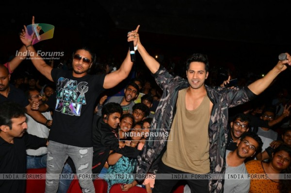 Varun at the promotion of 'Dishoom'