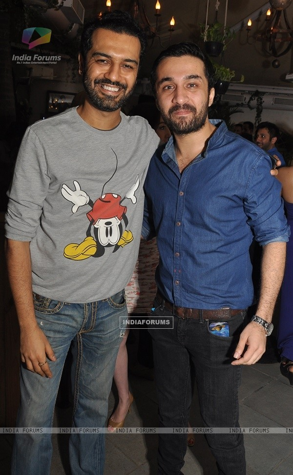 Siddhanth Kapoor with his friend at Launch of Mirabella Bar & Kitchen!