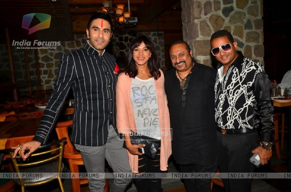 Sandip Soparkar, Manasi Scott and Leslie at  launch of Karaoke World Championships by TAP Restobar