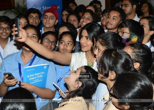 Selfie time for Priyanka Chopra at 'Fair Start Campaign' by UNICEF
