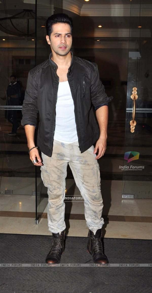 Varun Dhawan at Press Meet of 'Dishoom'