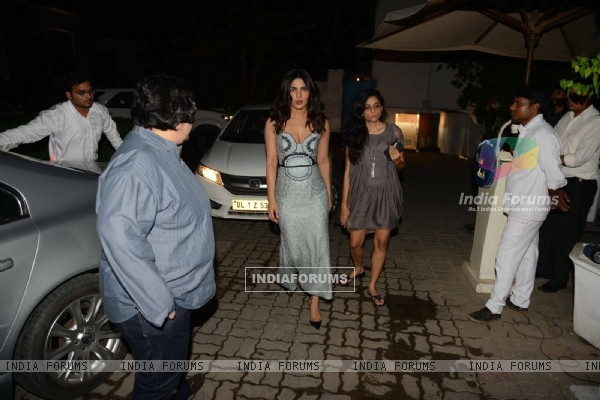 Priyanka Chopra Snapped at Olive in Delhi