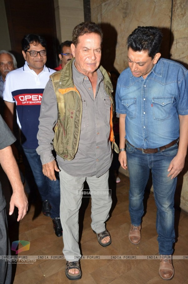 Salim Khan at Special Screening of 'SULTAN'