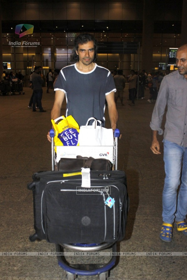 Film maker Imtiaz Ali snapped at airport