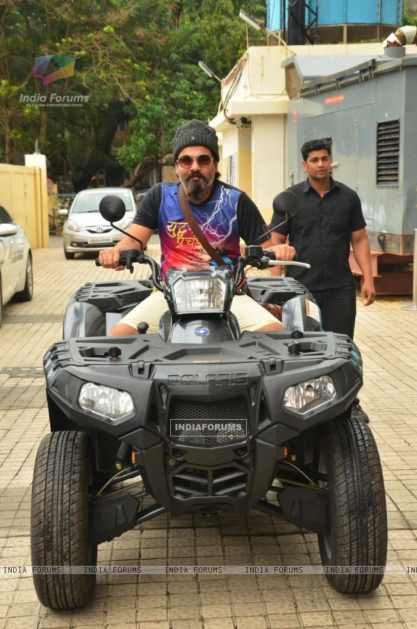 RJ ALok rides the 'Dishoom quad Bike' at Launch of Song 'Jaaneman Aah' from Dishoom