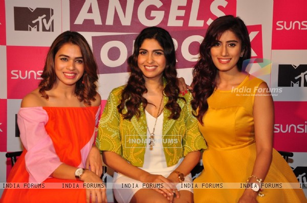 Akasa singh, Shalmali Kholgade and Anusha Mani at Launch of MTV's New Show 'Angels of Rock'