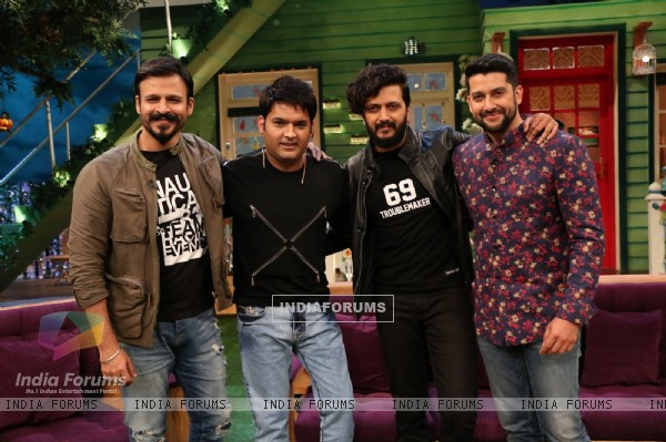 Vivek, Riteish, Kapil and Aftab Promotes 'Great Grand Masti' on 'The Kapil Sharma Show'