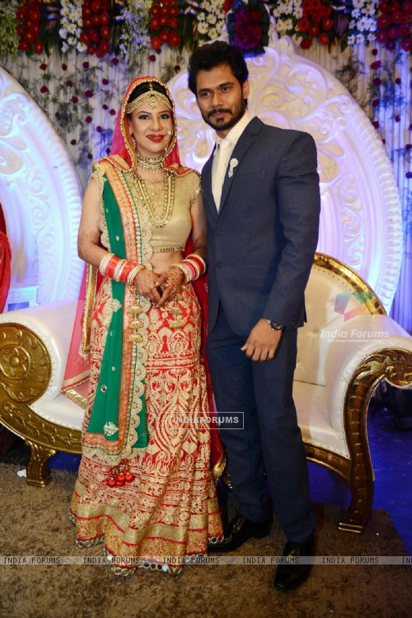 Fiance Avinash Dwivedi and Sambhavna Seth at their Marriage Ceremony