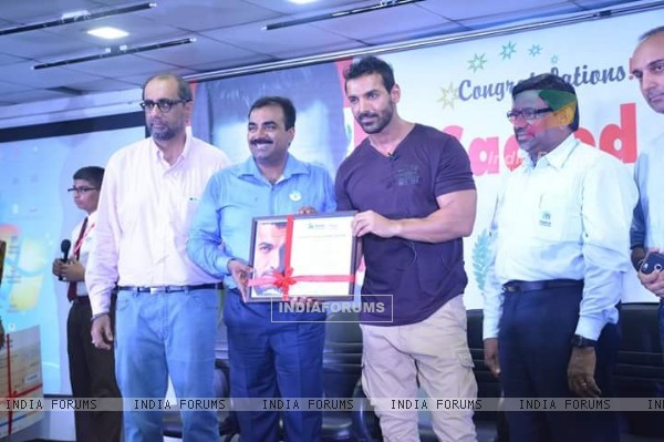 John Abraham at Sacred Heart school event in Kalyan