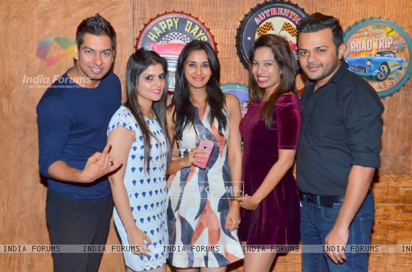 Gaurav Parikh with friends at birthday celebration of Kunal Verma at R- ADDA