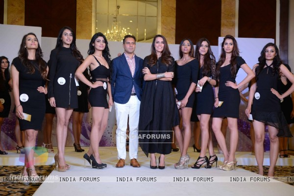 Neha Dhupia at auditions of Miss Diva