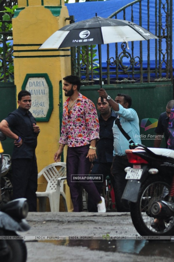 Ranveer Singh shoots for a travel ad