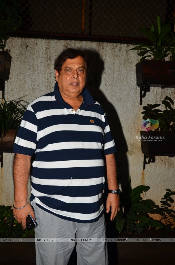 "David Dhawan at Special screening of the film ""Madaari"""
