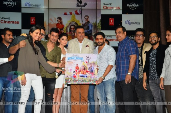 Cast and singers at Music Launch of The legend of Michael Mishra