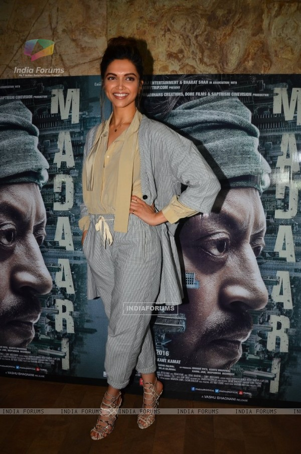 Actress Deepika Padukone at the special screening of 'Madaari'