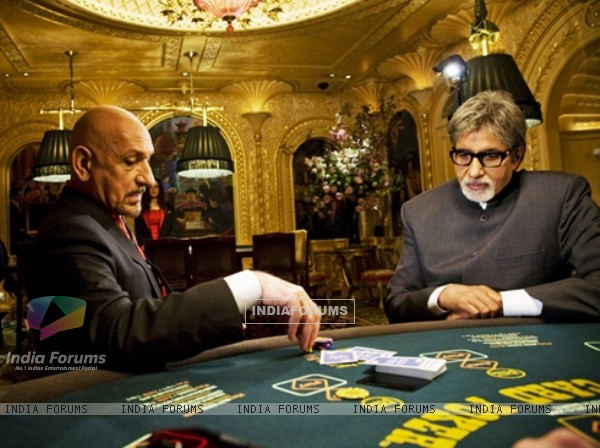 Amitabh Bachchan sitting in casino