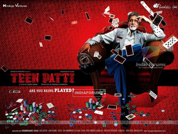 Wallpaper of Teen Patti movie with Amitabh Bachchan