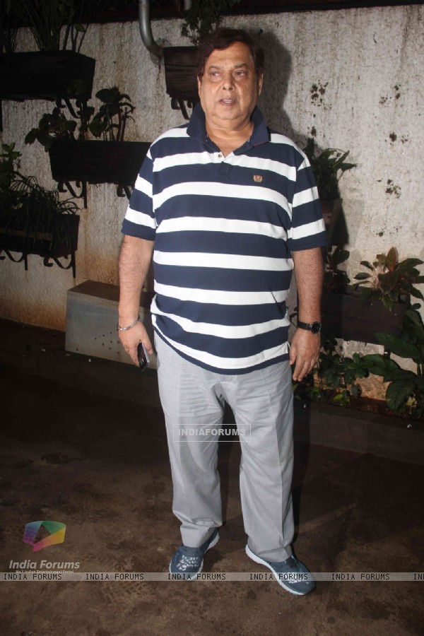 David Dhawan at the special screening of 'Madaari'