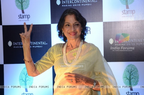 Tanishaa Mukerji's mom Tanuja at Success party of 'NGO STAMP'
