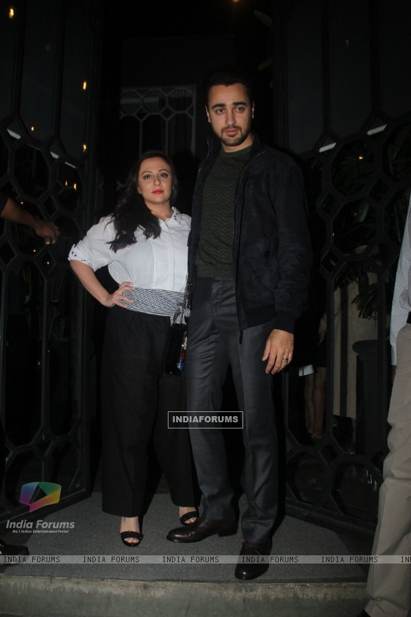 Actor Imran Khan with his wife Avantika Mallik at Jitesh Pillai's Bday Bash!