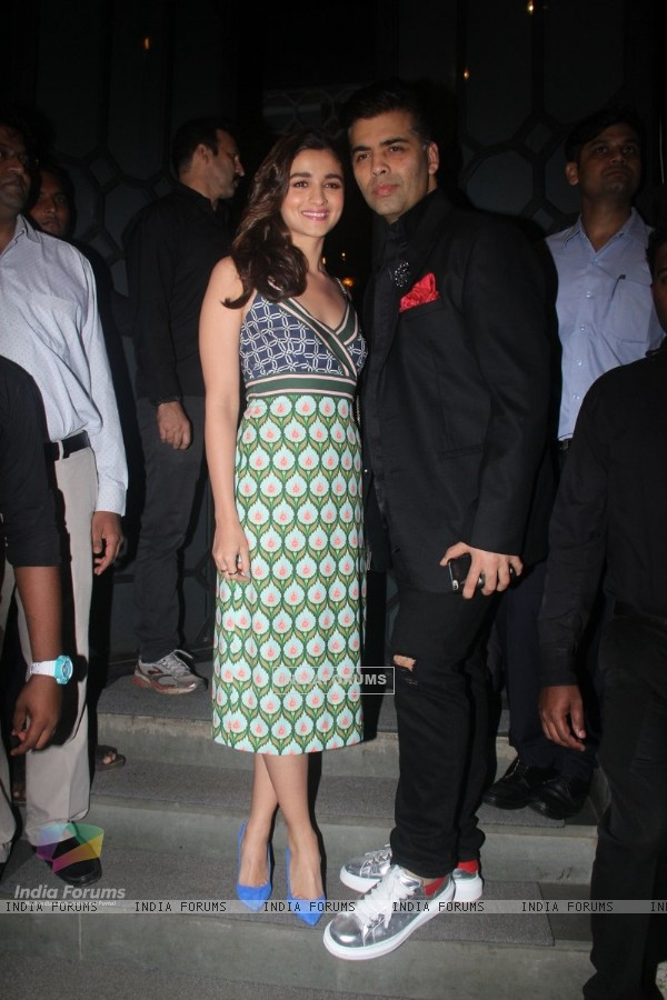 Alia Bhatt and Karan Johar at Jitesh Pillai's Bday Bash!
