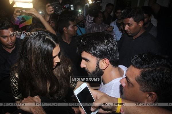 Actors Ranveer Singh and Deepika Padukone at Jitesh Pillai's Bday Bash!