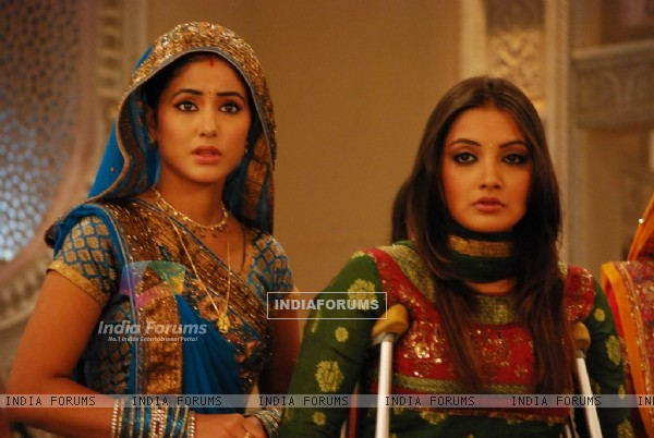 Akshara and Nandini looking shocked
