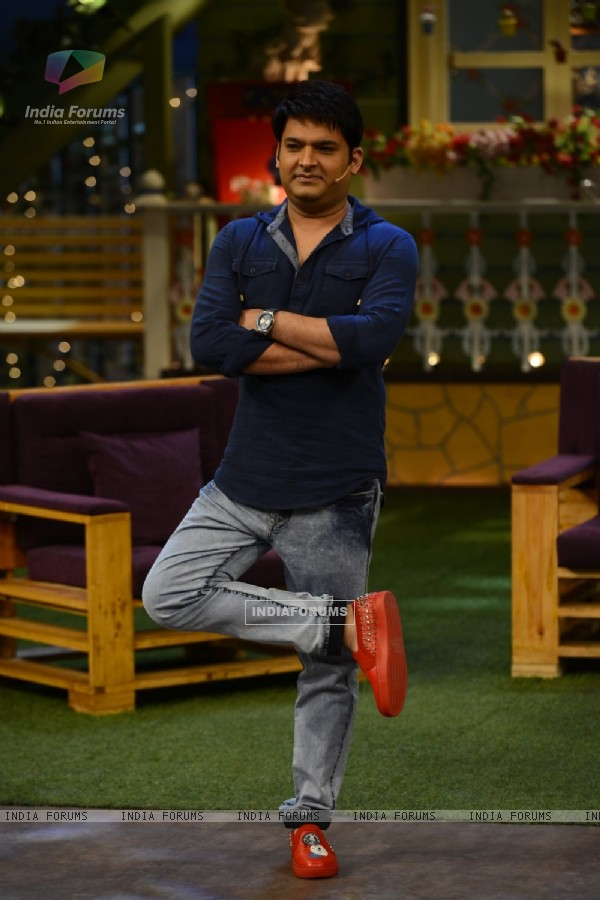 Kapil on the sets of Kapil Sharma