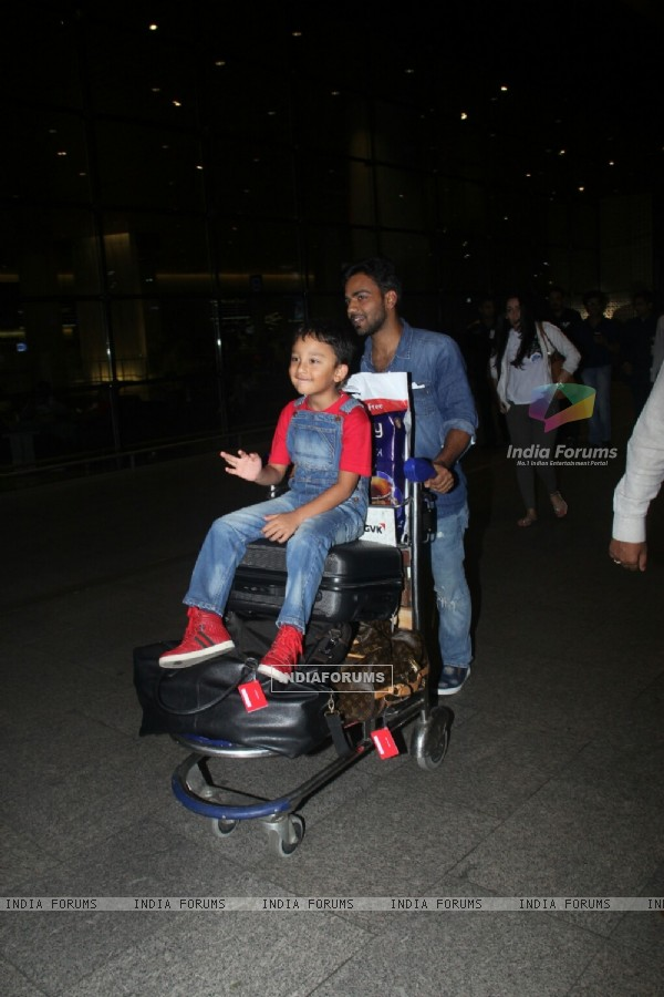Sanjay Dutt's son spotted at airport!