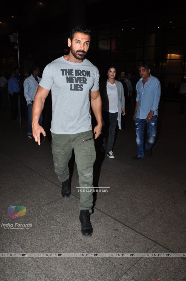 John Abraham snapped at airport!