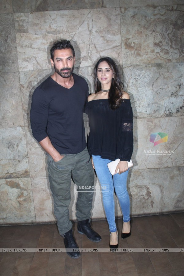 John Abraham with his wife Priya Runchal snapped