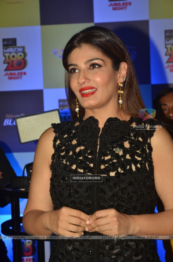 Raveena Tandon at Mirchi Jubilee Nights