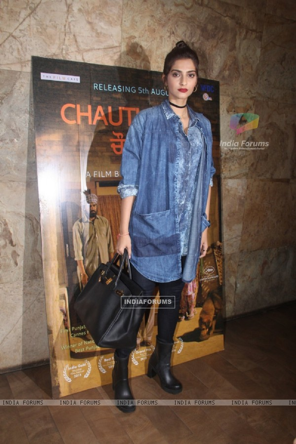 Sonam Kapoor at Chauthi Koot film screening