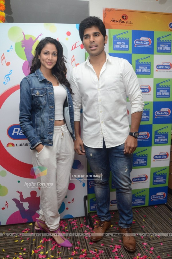 Allu Sirish and Lavanya Tripati Promotes tollywood movie 'Srirasthu Subhamasthu' at Radio City