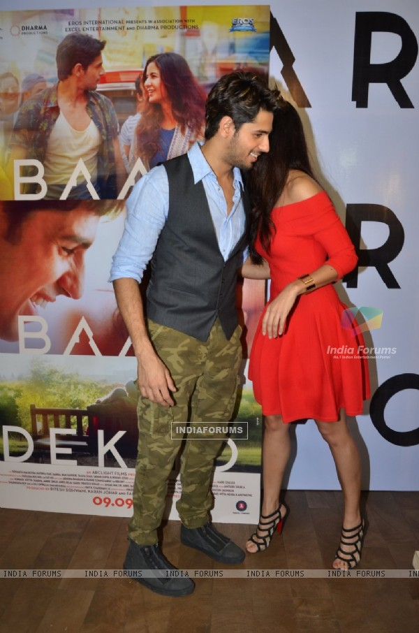 Sidharth Malhotra and Katrina Kaif at the special screening of trailer of 'Bar Bar Dekho'