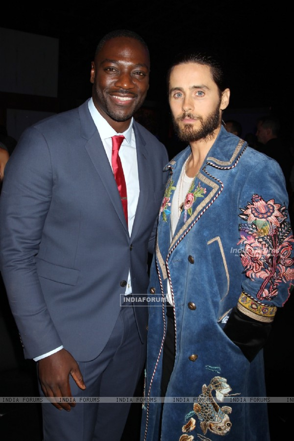 Adewale Akinnuoye-Agbaje along with Jared Leto at Premiere of 'Suicide Squad' at NY