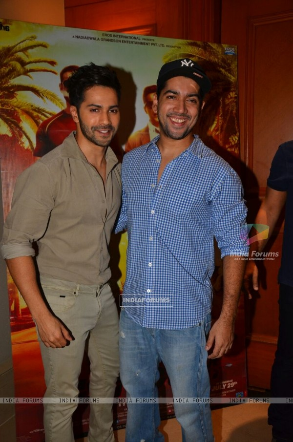 Varun Dhawan and Rohit Dhawan at Success Bash of 'Dishoom'