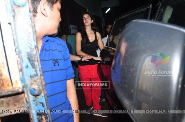 Katrina Kaif snapped post rehearsals of Dream Team tour