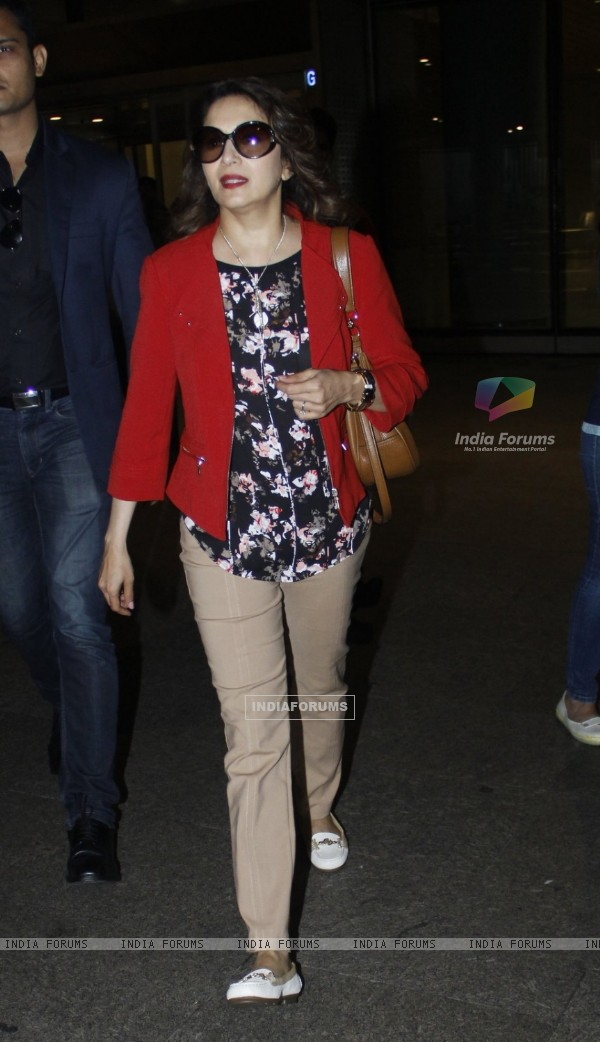 Madhuri Dixit Nene snapped at Airport
