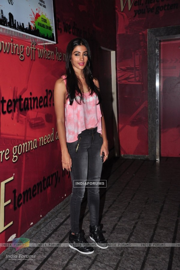 Pooja Hegde snapped at Pvr post watching Dishoom