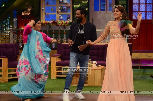 Remo and Jacqueline Promoties 'A Flying Jatt' on sets of The Kapil Sharma Show