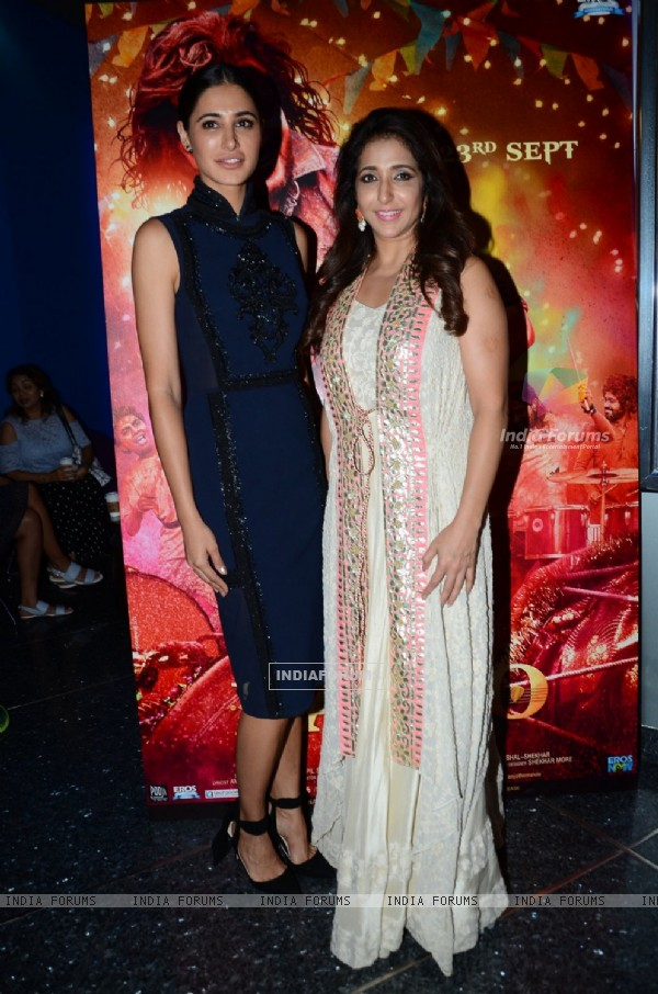 Nargis Fakhri and Krishika Lulla at Trailer launch of movie 'Banjo'