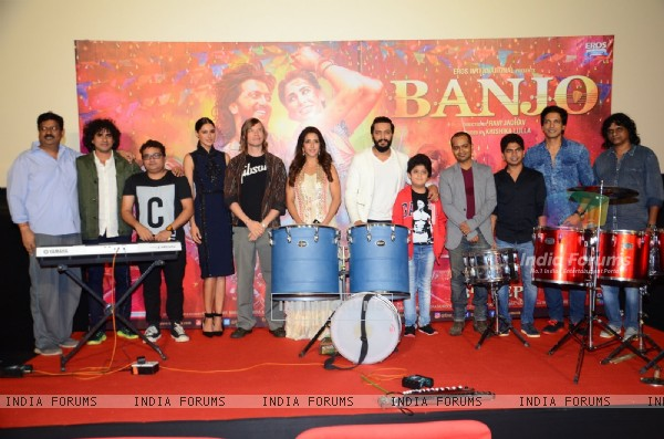 Cast at Trailer launch of movie 'Banjo'