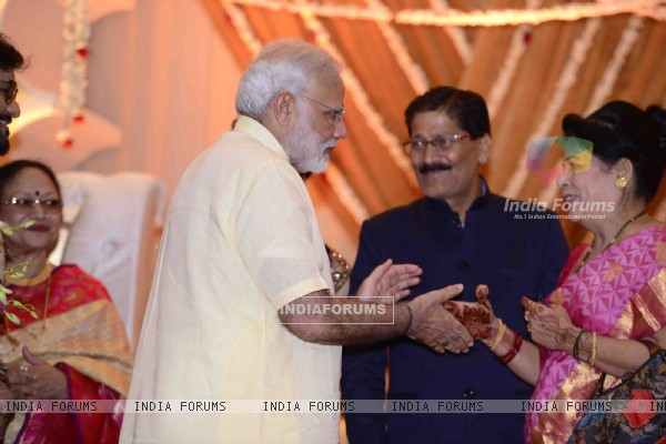 PM Narendra Modi at Babul Supriyo's wedding