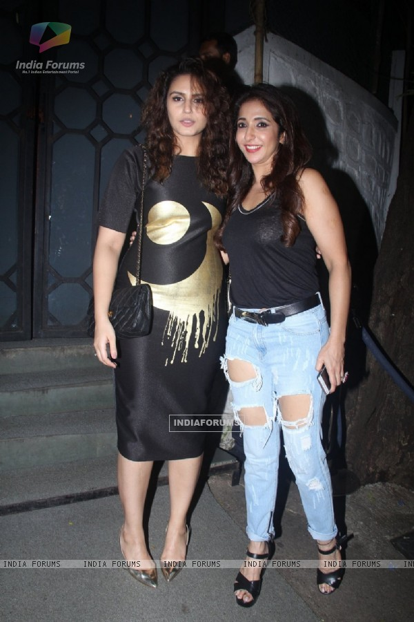 Huma Qureshi and Krishika Lulla at Rohini Iyer's Birthday bash!