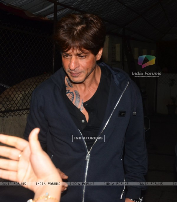 Shah Rukh Khan snapped at recording studio