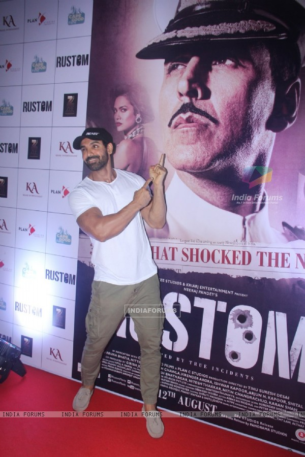 John Abraham at Special Screening of 'Rustom' at Yashraj Studios