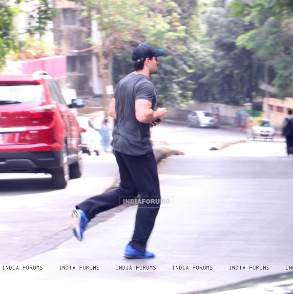 Sooraj Pancholi snapped outside his gym