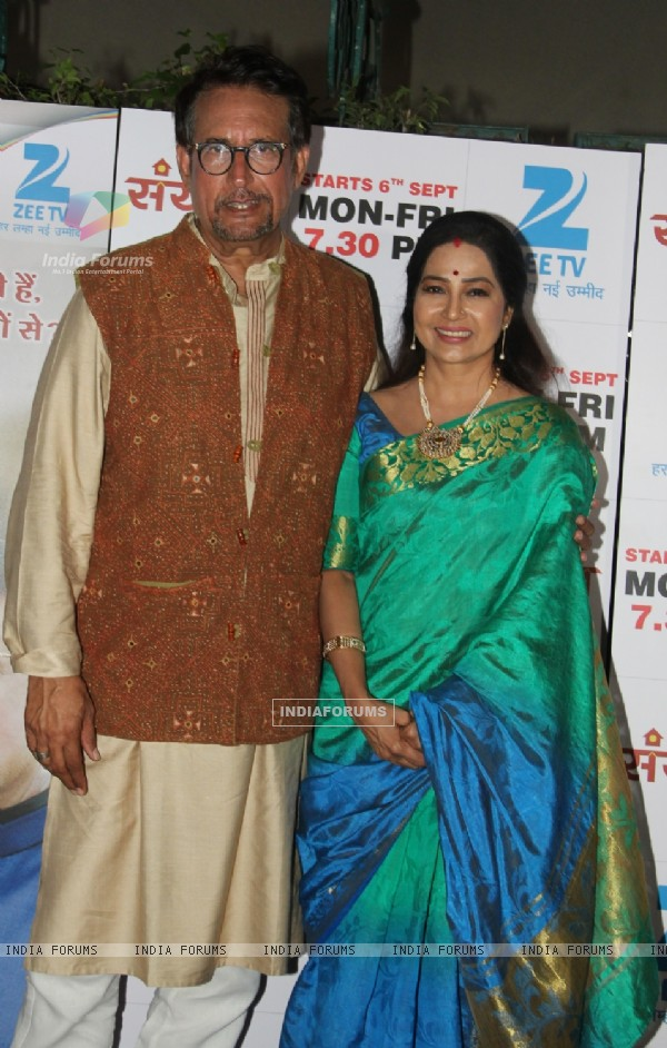 Kiran Kumar and Shubhangi Latkar at Launch of ZEE TV's New Primetime show 'Sanyukt'